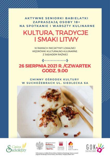 Plakat kultura, tradycje i smaki Litwy