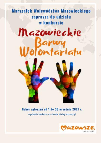 plakat mazowieckie barwy wolontariatu