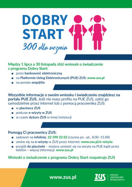 """Program """"Dobry Start"""" dla uczniów"""