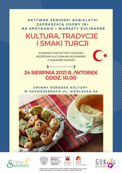 """Projekt : """"Wędrówki kulturalno-kulinarne. Z sąsiadem raźniej""""."""