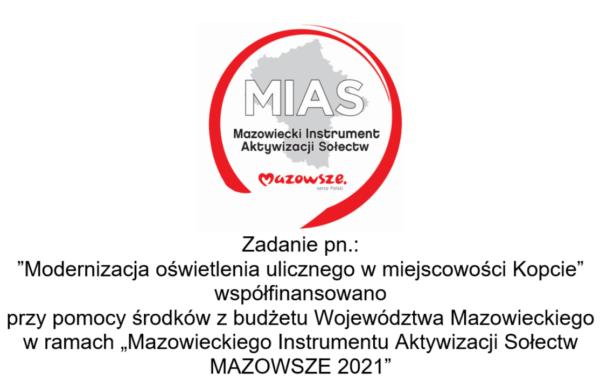 tablica informacyjna logo MIAS